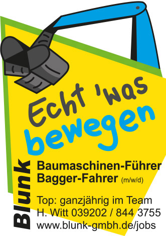 Blunk Stellenanzeige Baggerfahrer/in Vahldorf