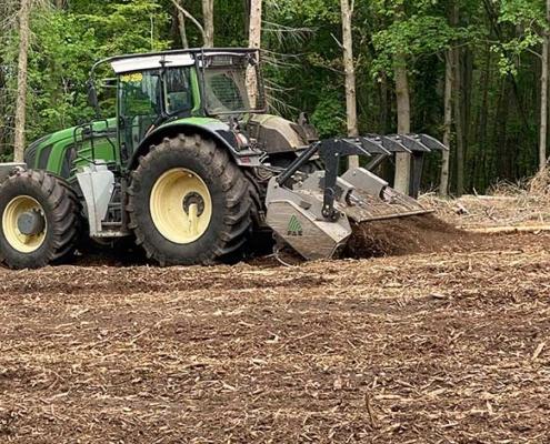 Blunk mulcht Forst gegen den Borkenkäfer 12