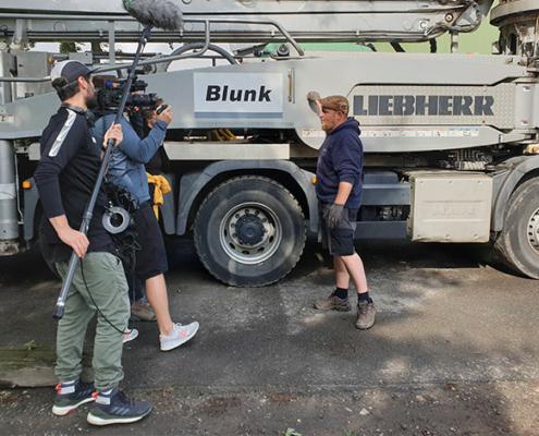 Rührarbeiten - Blunk Team mit Filmcrew von DMAX 03