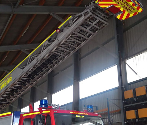 Blunk im Einsatz: Rettung Jungfalke in Biogasanlage Honigsee 05