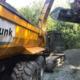 Blunk beim wassergebundenen Wegebau in Trinkwassergebiet 05