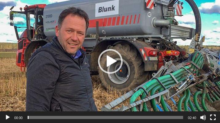 Blunk im Fim: Frühjahrsdüngung von Bauernverband Börde eV per Schleppschuh