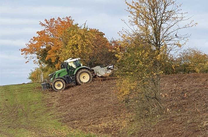 Blunk: Rodung und Räumung von Hangflächen für Weidebewirtschaftung Titel