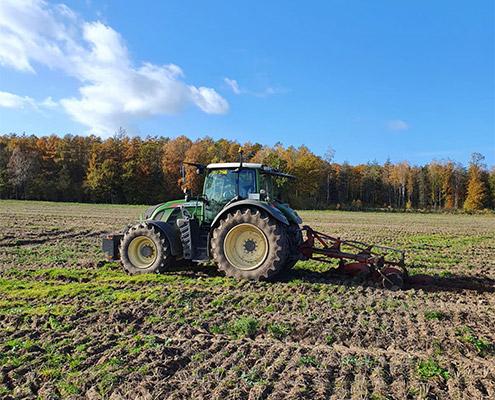 Lohnunternehmen Blunk bereitet Ackerflächen mit Pflug für Aufforstung vor - 44