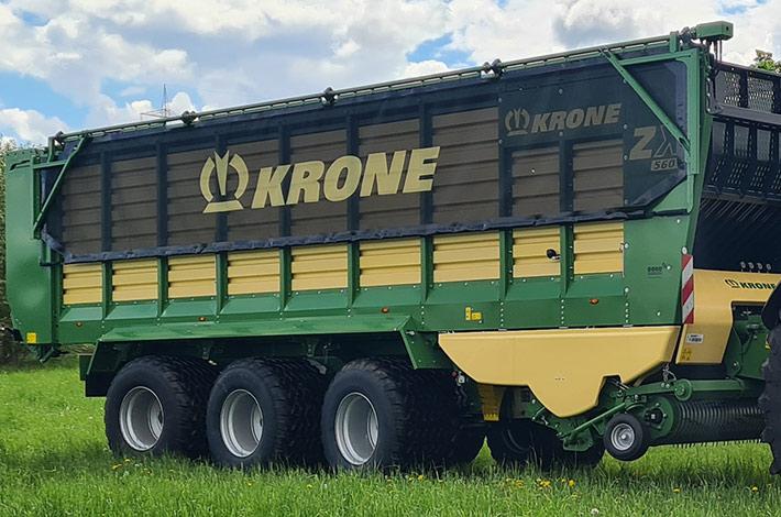 Blunk: Ladewagen Krone ZX mit integrierter Wiegeeinrichtung - Bild: Krone 05