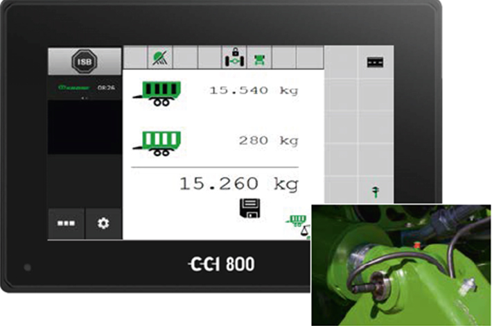 Blunk: integrierte Wiegeeinrichtung des Ladewagen Krone ZX - Bild: Kone