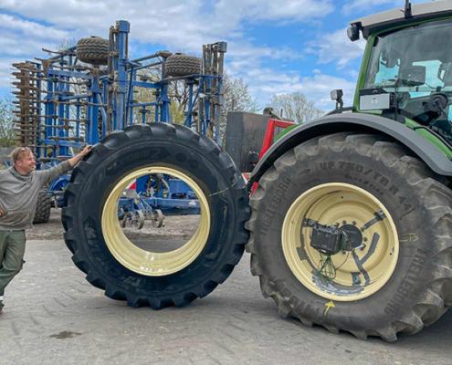 Blunk: Fendt Felgentest mit neuen Reifen von GKN 05