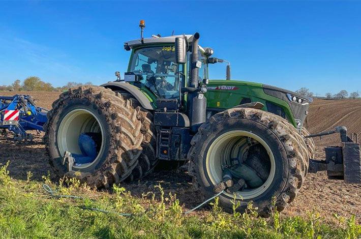 Blunk: Fendt Felgentest mit neuen Reifen von GKN 08