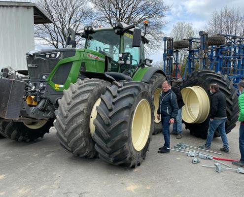 Blunk: Fendt Felgentest mit neuen Reifen von GKN 09