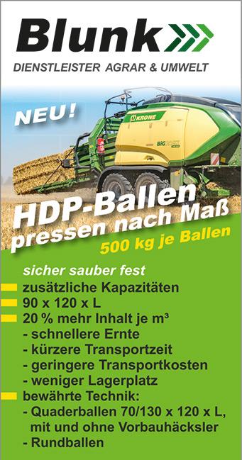 Blunk: 2 neue Krone BiG Pack Ballenpressen für HDP-Ballen 19