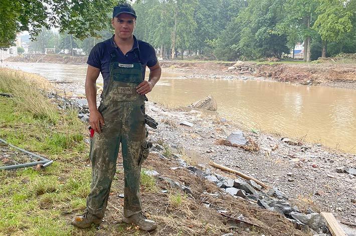 Blunk-Azubis packen an in Flutkatastrophengebiet an der Ahr 03