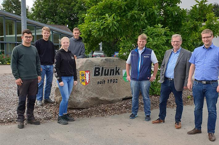 Ausbildungsbetrieb Blunk begrüßt neue Azubis FAS 2021 02
